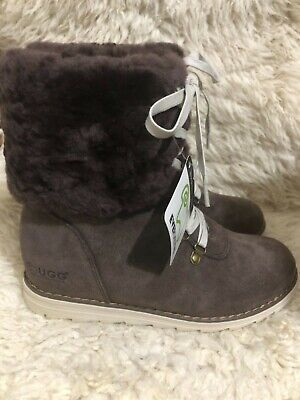Clearance / Ever UGG Australia -Women's lace-up Boots -vivian - chocolate -US 4