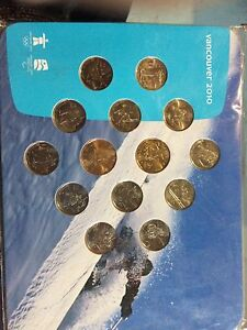 2010 Olympic Games coin set in open