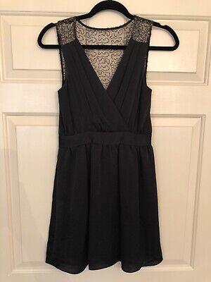 bcbg dress black 0 sequin back design