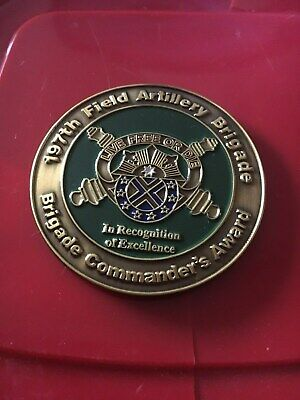 New Hampshire Army National Guard 197th Field Artillery Brigade Challenge Coin ()
