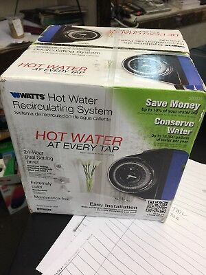 Watts Hot Water Recirculating System with Built-In Timer-Water Pump (new!)