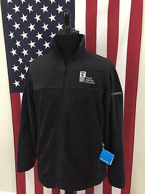 - nwt Columbia Fleece Full Zip Flanker Jacket mens LARGE Tyler Junior College 9247