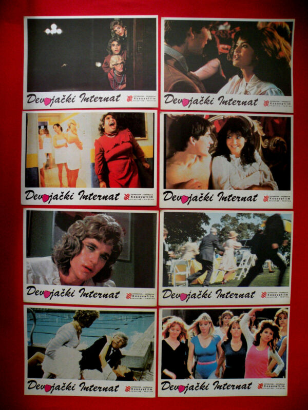 PRIVATE SCHOOL 1984 PHOEBE CATES BETSY RUSSELL UNIQUE RARE EXYU LOBBY CARDS # 2
