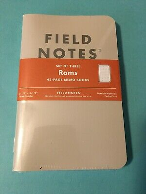 The Rams Notepads By Fieldnotes Brand New Sealed