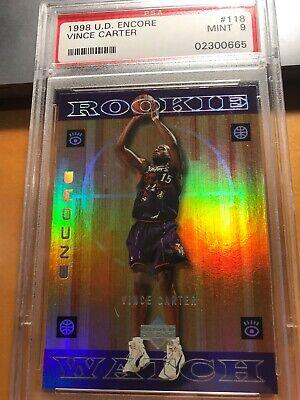 1998 U.D. Encore Vince Carter Raptors #118 Rookie PSA 9 #