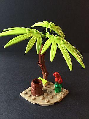 Lego New Lime Green Palm Tree -Island Bird Parrot Barrel Pirates Friends ()