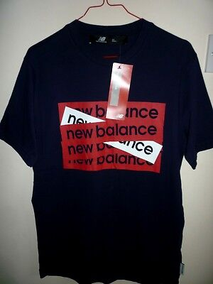 New Balance Men's Navy T Shirt New with Tags Size S