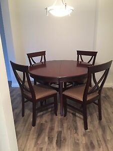 Dark wood dining table - $80 if pickup today