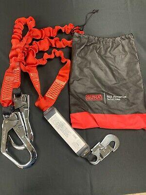 Suha Dual Leg Stretch Lanyard Wrebar Fall Arrest Safety Harness Shock Resistant