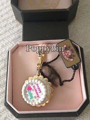 BRAND NEW! JUICY COUTURE BIRTHDAY CAKE BRACELET CHARM IN TAGGED BOX (Juicy Couture Box Bracelets)