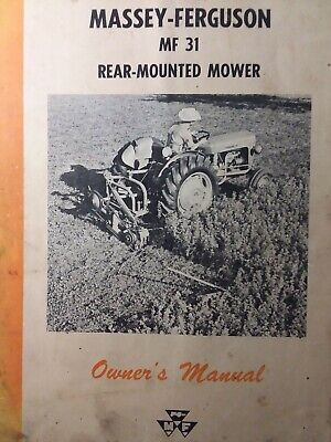 Massey Ferguson Mf 31 Rear Mounted 3-point Tractor Sickle Mower Owners Manual 62
