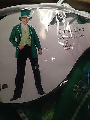 Lucky Guy Leprechaun St. Patrick's Day (4 pc)  Adult Halloween Costume - Mens Leprechaun Halloween Costume