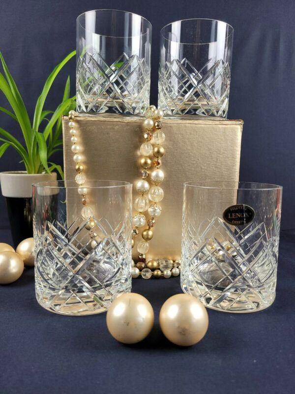 Lenox Crystal Tartan Old Fashioned Rocks Glass - Set of 4