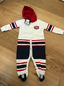 Montreal Canadians button up pyjama size 12months New