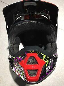 Fox Racing V1 Pestilence MXATV Helmet SNELL approved $95 OBO