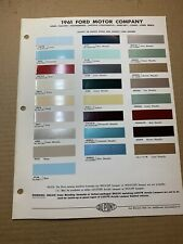 1961 Ford Co. Dupont Color Chip Paint Chart Original Ford ...