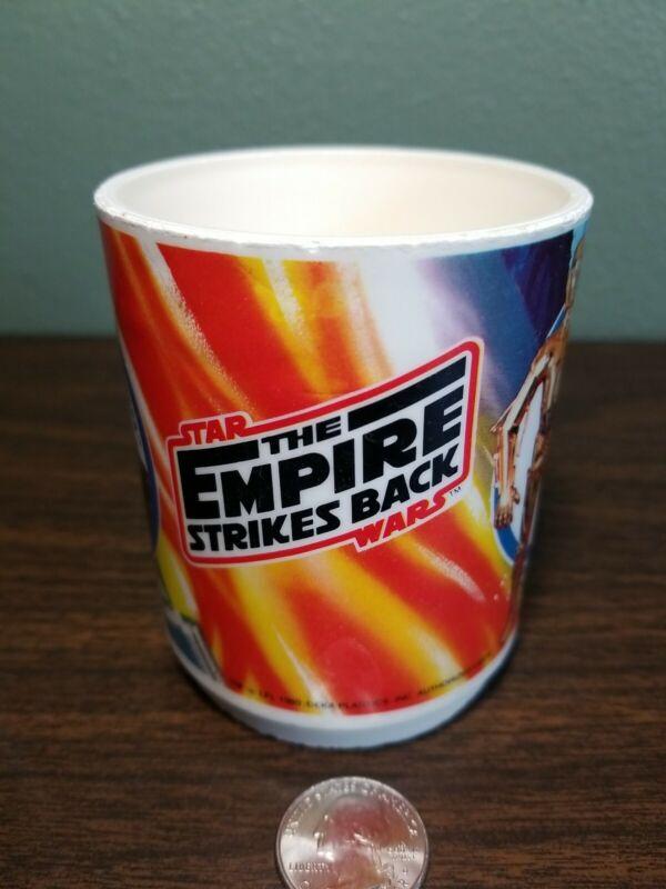 Vintage 1980 Deka Star Wars The Empire Strikes Back Mug - C3PO, R2-D2, Chewbacca