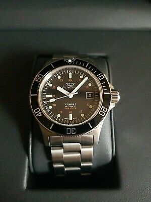 Glycine Combat Sub Automatic  Gl0185 42MM  SWISS SAPPHIRE DIVER watch