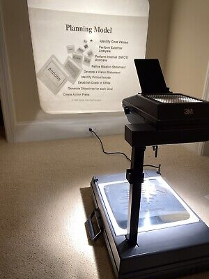 3M 2000  Portable Briefcase-Style Overhead Projector - Works Great