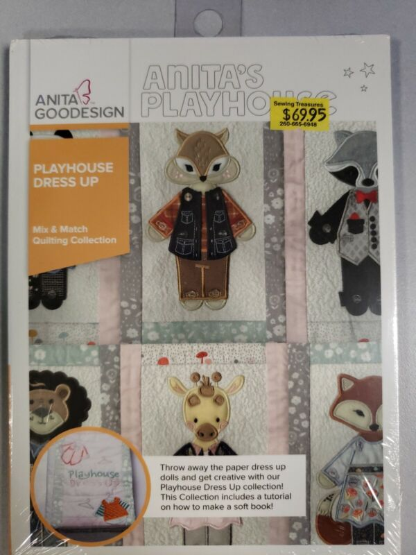 Playhouse Dress Up Machine Embroidery Anitagoodesigns