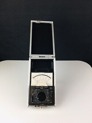 Vintage Simpson 160 Handi Vom Analog Multimeter In Original Case