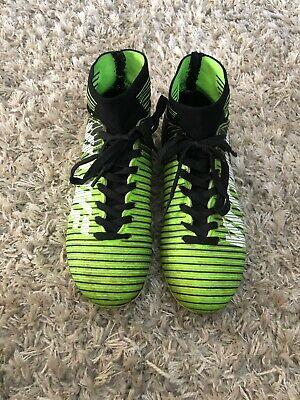 VITIKE  Lime Green And Black Soccer Cleats Shoes Size 3 Lime Green Soccer Shoes