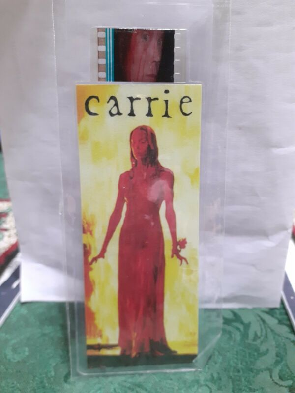 CARRIE FILM CELL STRIP BOOKMARK GREAT XMAS GIFT FOR ANY HORROR FAN