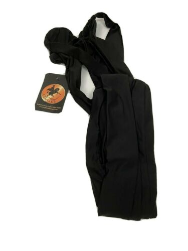 Centaur Spandex Braid In Tail Bag Black Equestrian Horse Show Accessory New