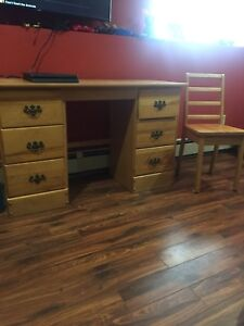 Desk and chair $30