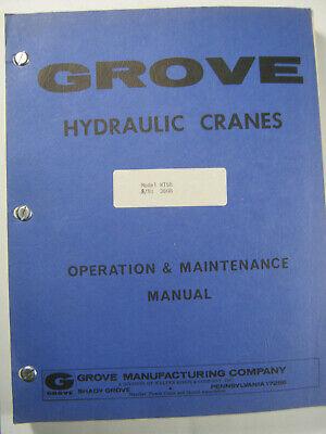 Grove Crane Rt58 Operation Maintenance Manual Sn 3608 Oem