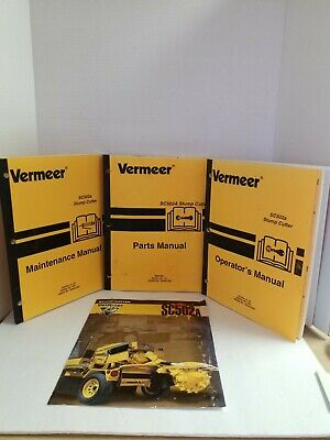 Vermeer 200102 Sc502a Stump Cutter Maintenance Parts And Operator Manual
