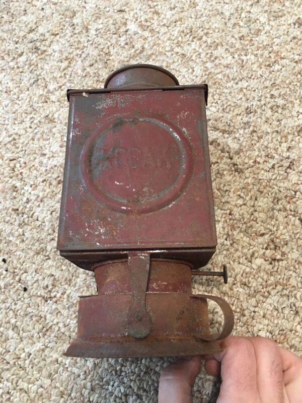ANTIQUE Vintage KODAK DARKROOM KEROSENE? LANTERN