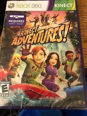 Kinect Adventures Xbox 360 Video Game New Factory Sealed Fast Free Ship (Video Kinect)