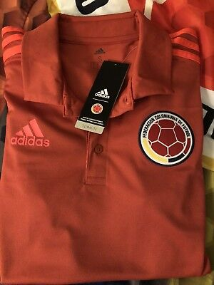 ADIDAS FCF COLOMBIA SOCCER AUTHENTIC POLO SHIRT f61ab66c68231