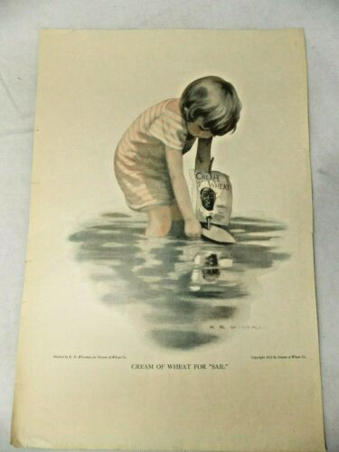 "Antique 1912 Cream of Wheat ""Sail"" Ad by K. R. Wireman-Unframed"