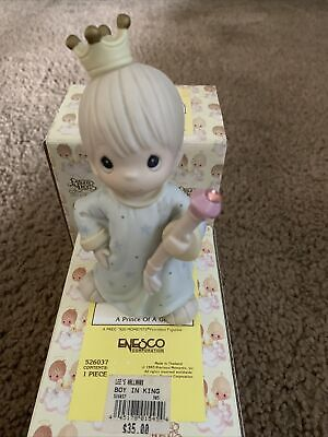 Precious Moments Christmas Figurine A Prince Of A Guy 526037 With Box