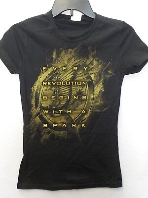 Hunger Games Woman (JUNIORS WOMENS THE HUNGER GAMES CATCHING FIRE BLACK TSHIRT NEW)