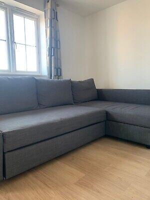 IKEA FRIHETEN Corner sofa-bed with storage - Skiftebo Dark Grey