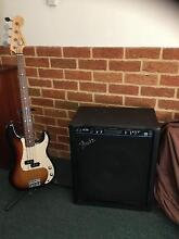 Fender  bass and amp Warnbro Rockingham Area Preview