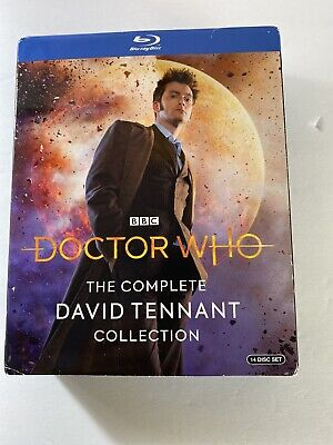 Doctor Who NEW Complete David Tennant Collection 14-disc Blu-ray set BBC extras
