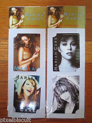 MARIAH CAREY PHOTO STICKERS (SET OF 4) RARE COLLECTIBLES FROM 1999 SEALED HTF