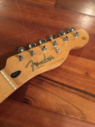 "2002 Fender Tele Telecaster Nashville Deluxe Neck Maple 9.5"" Radius Tuners Plate"
