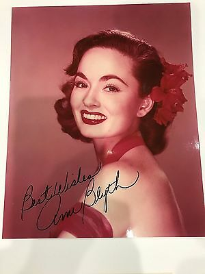ANN BLYTH Hand Signed 8x10 Autographed Photo With COA