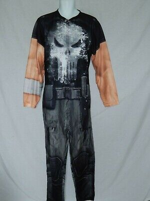 The Punisher Costumes (The Punisher Union Suit Lounge Outfit Costume Cosplay Bodysuit NEW Men's)
