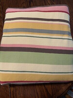 Pottery Barn Duncan Stripe Queen/Full Duvet Cover Mission Style Earth Tones