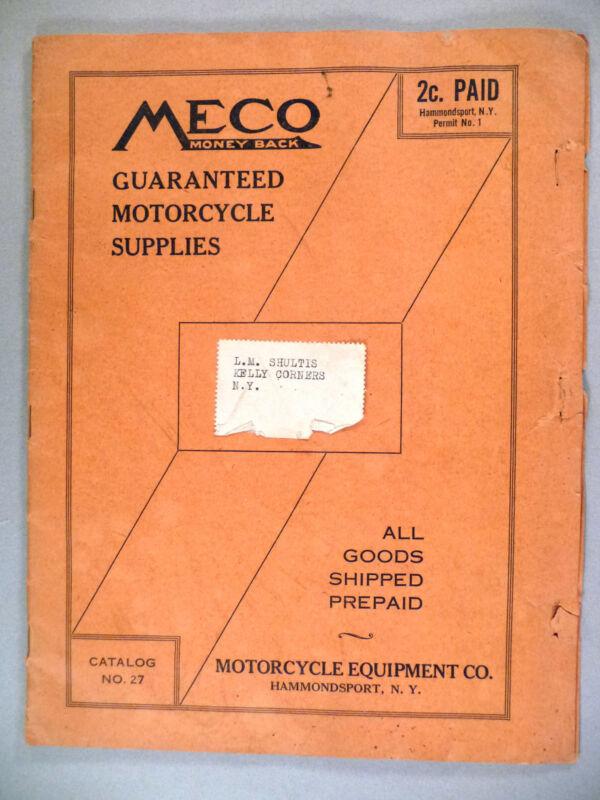 Meco Motorcycle CATALOG - circa 1930 ~~ supplies & equipment