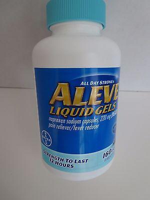 Aleve Liquid Gels Naproxen Sodium 220Mg 160 Liquid Gels Pain Reliever 12 Hour
