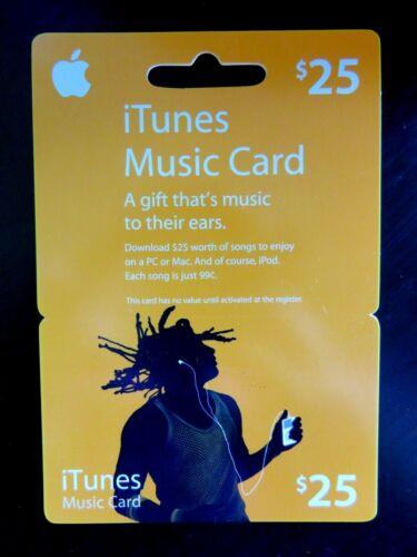 iTunes Music Gift Card $25.00 Unused Rare