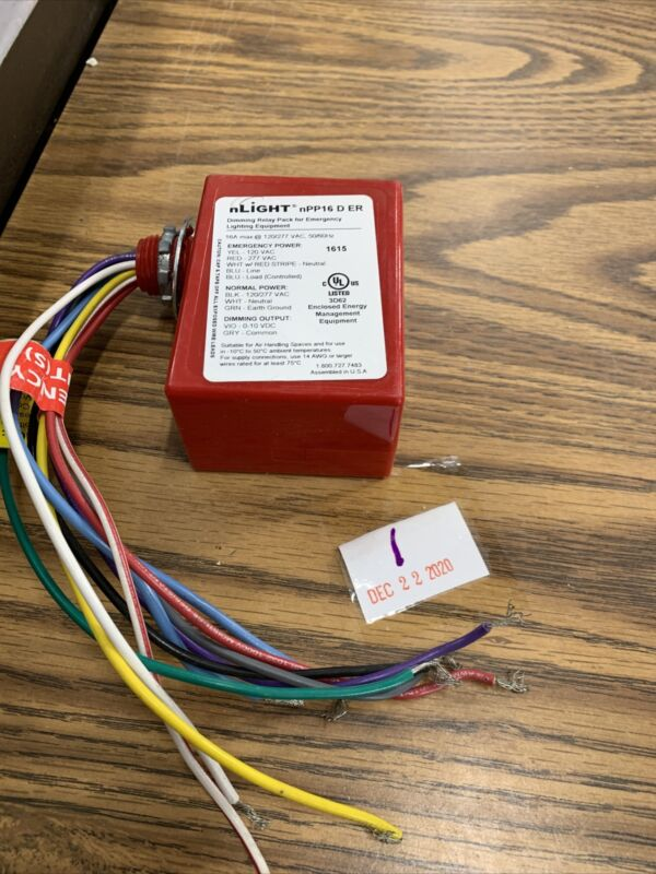 nLight NPP16 D ER Relay, Occupancy Controlled, Dimming, Power/Relay no box