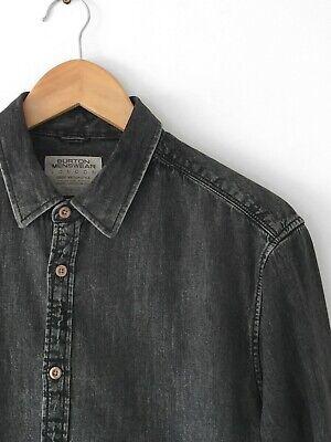 Burton Washed Black Denim Shirt - Medium